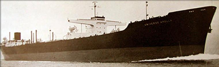Old photo of bulk carrier vessel.